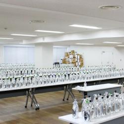 「ワイングラスでおいしい日本酒アワード2018」の審査会場